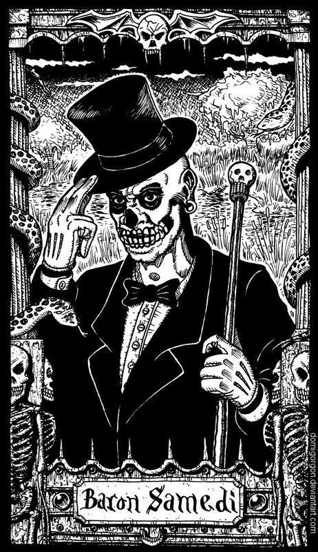 Baron Samedi. Let us call him Lord Bacon. Makes no sense to anyone but me. (;