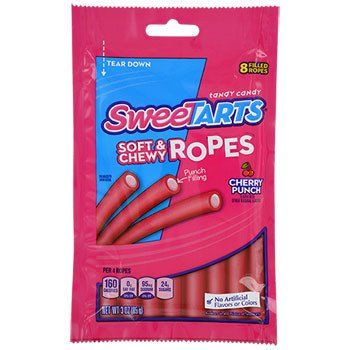 SweeTarts Soft & Chewy Cherry Punch Ropes, 3-oz. Pack