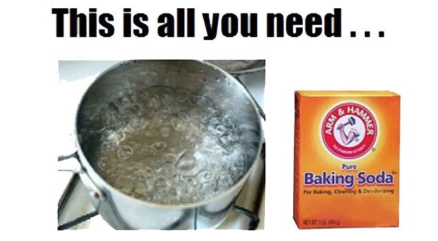 cleaning-stove pot of boiling H20 & slowly + 1/2C baking soda - put filter in & grease muck will float out. Rinse til c hot H20 & dry over stovetop. Ty 4 pin!