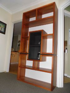 Recycled rimu bookcase,
