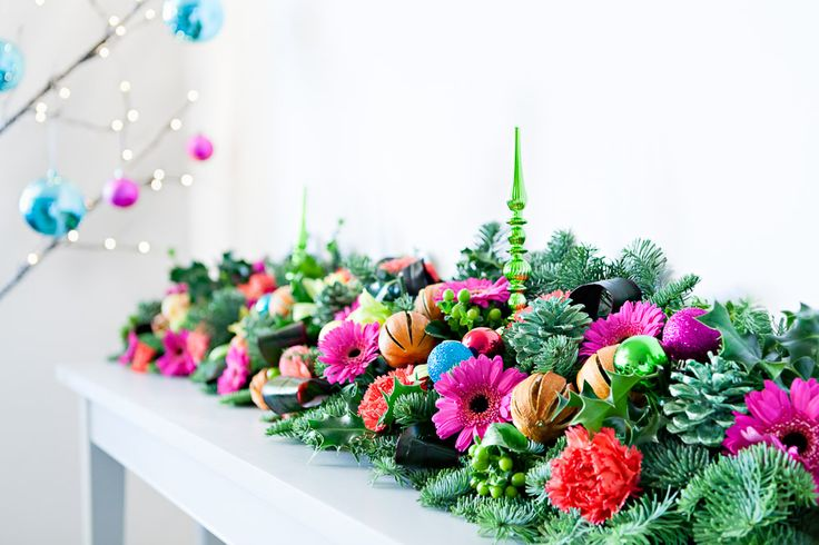 Bring a fun and fabulously festive jewel-coloured scheme to your Christmas decorations this year.