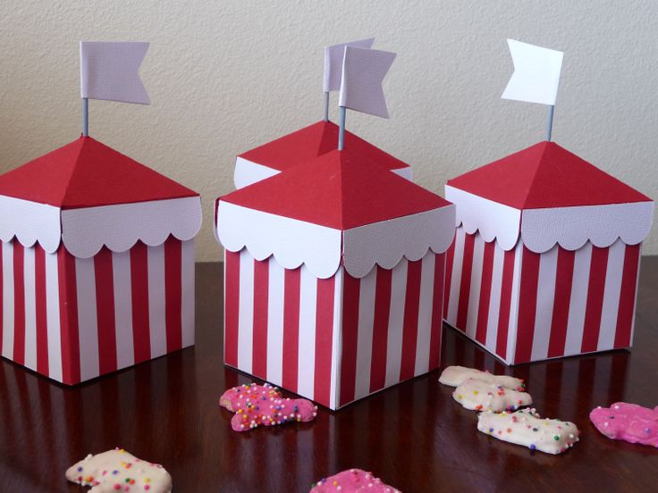 CircusTent Favor Boxes for a dumbo party