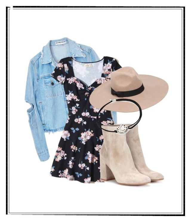 """Casual #2"" by plainjanestyling on Polyvore featuring Hollister Co., Gianvito Rossi, Lack of Color and Alex and Ani"