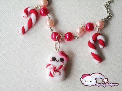 Collezione Profumo di Neve - Collana Cute Snowgirl #xmas #kawaii #cute #sweet #handmade #jewels