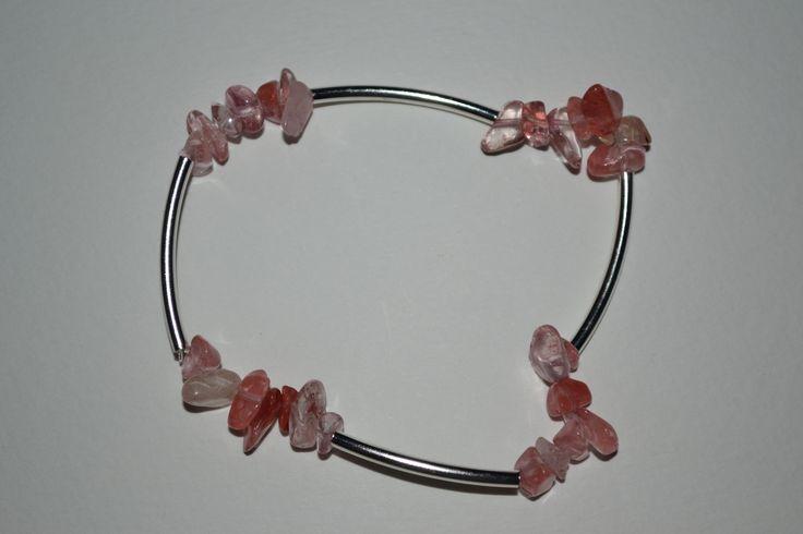 """bracelet en """"quartz cherry"""" , Opale Isis, Christine Monsion"""