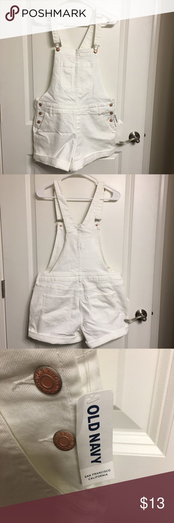 Old Navy White Overalls (New with tags) Perfect for summer! New with tags. Old Navy Pants Jumpsuits & Rompers