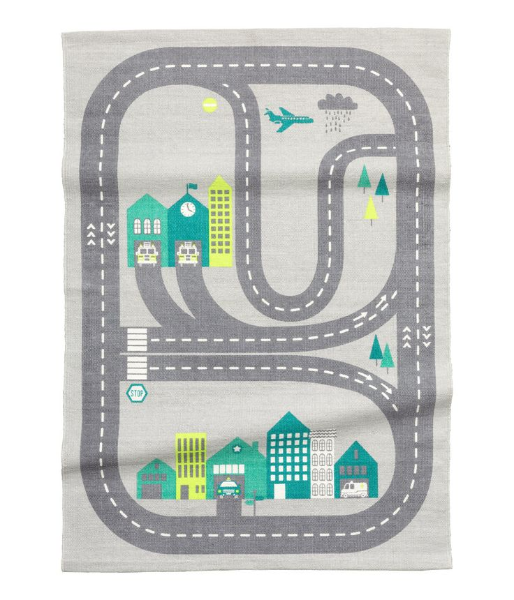 Check this out! Rectangular cotton rug with a printed pattern at front and non-slip backing. - Visit hm.com to see more.