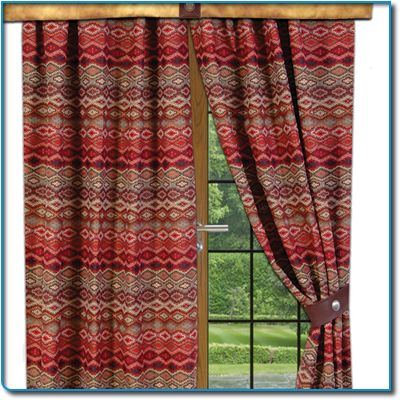 southwestern window treatments valances | Rod Pocket Drape | Window Treatments & Curtains, Southwestern Bedding