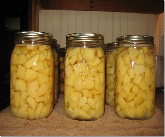 Canning Potatoes.  Growing our own again this year and I'm going to try this.  Hope to save lots of money!