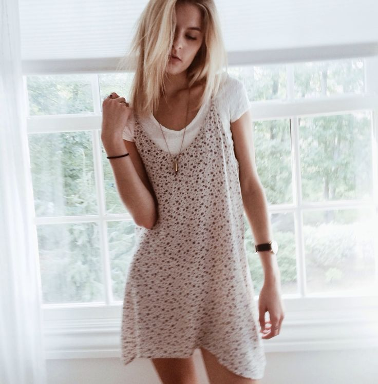 Cute layered dress look #style