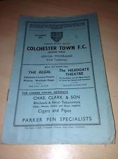 COLCHESTER TOWN v Kings Lynn Eastern Counties League 20 March 1937 PRE WAR WOW