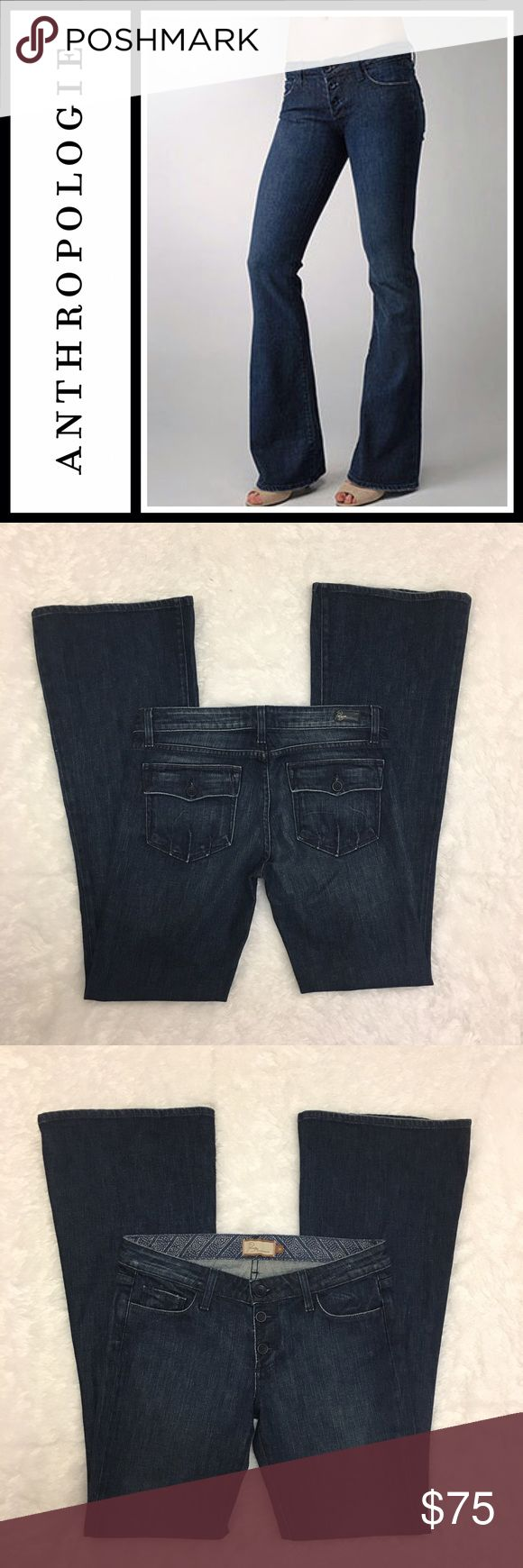 "Paige Calabasas Flare leg jeans NWOT Tried on but never worn, got these at anthropologie- Paige premium calabasas denim flare leg jeans - inseam 34"" - size 30 - Anthropologie Jeans Flare & Wide Leg"