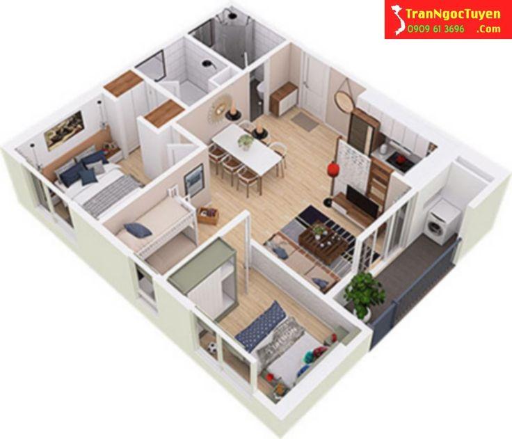 Thiết kế căn hộ West Bay Ecoaprk diện tích 65m2 Hotline tư vấn West Bay Ecopark 0909.61.3696 gặp Ngọc Tuyền