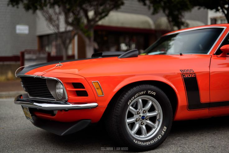 Ford Mustang Boss 302 at the Pacific Grove Auto Rally #MontereyCarWeek #ClassicCars #CarShow