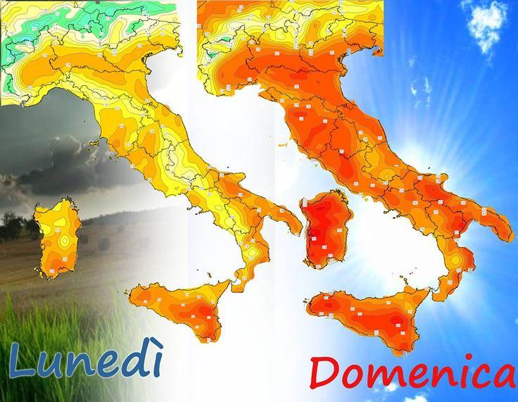 Ecco come sarà l'evoluzione #meteo in questa settimana. Si va verso l'Estate