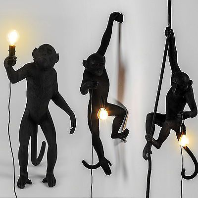 Seletti Black Outdoor Monkey Lamps - Seletti, designer, Italian, monkey, outdoor