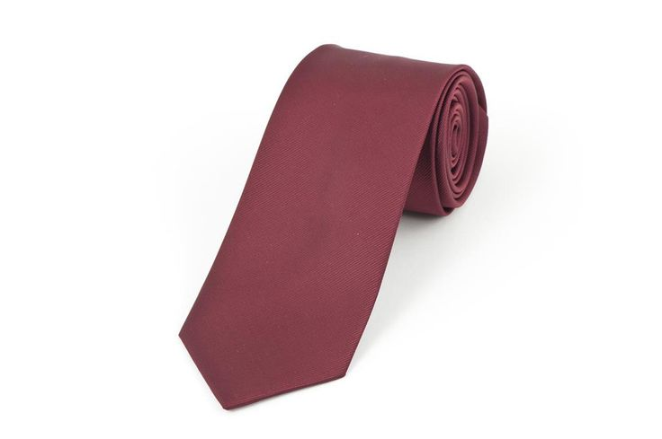 Burgundy Self Stripe Necktie