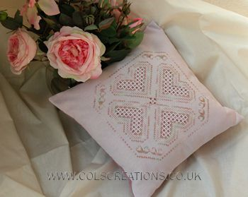 Col's Creations - Traditional Hardanger Designs - The Pillows & Cushions Collection Make Beautiful Gifts For Births, Weddings or Just Becaus...