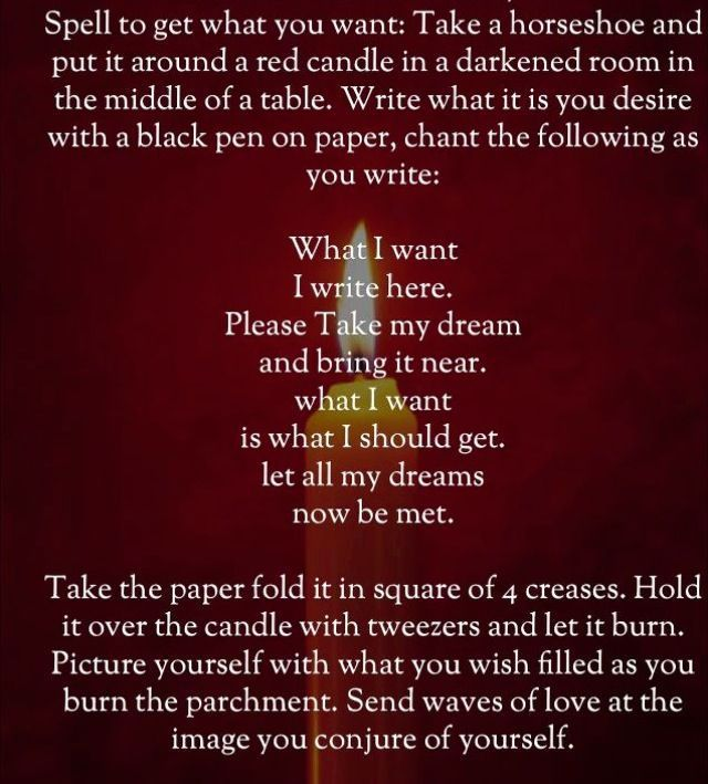 To Acquire Your Desire Spell Luck Spells Spells Witchcraft Candle Spells