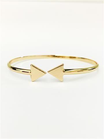 La Bella Donna - Γυναικειο βραχιολι χρυσο-Τριγωνα
