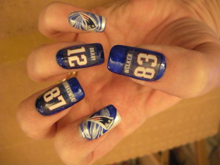 40 best patriots nails images on pinterest patriots football new england patriots nails go patriots oh and welker left so instead put an 11 and edilmen i think thats how you spell his name prinsesfo Image collections