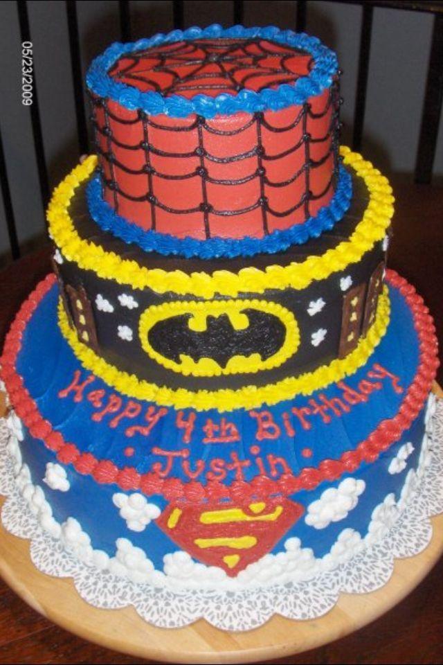 17 Best Superhero Themed Cakes Images On Pinterest Cake