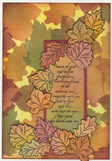 Cards, Cats and Coffee: Autumn Leaves