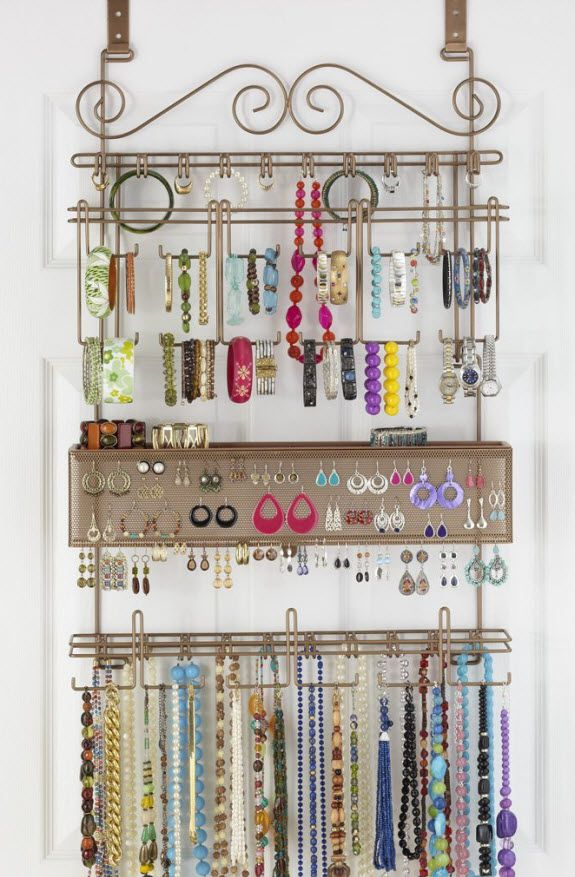 17 best images about organizing jewelry on pinterest for Jewelry organizer ideas