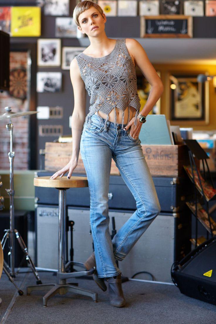 Our summer concert style inspiration | Suki bootcut jeans and  crochet top #silverjeans #SJCsummerconcertstyle