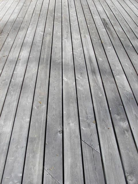 Siberian Larch decking - can also be used as fencing