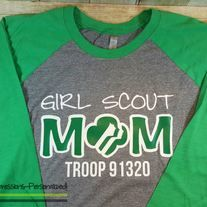 Girl Scout MOM raglan shirt