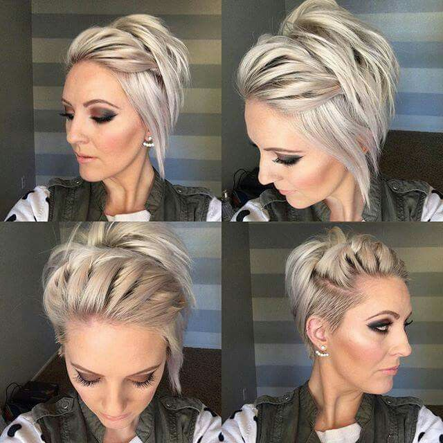 Long undercut pixie - Great styling ideas for the few occasions I straighten my asymmetrical undercut