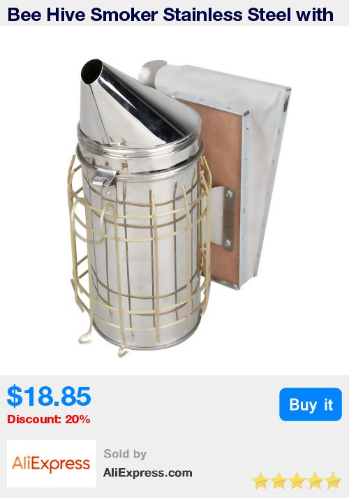 Bee Hive Smoker Stainless Steel with Heat Shield Beekeeping Tool Equipment E2shopping * Pub Date: 16:03 Jul 14 2017