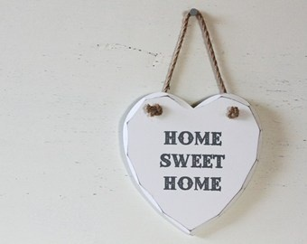 "INSEGNA CUORE ""HOME SWEET HOME"""