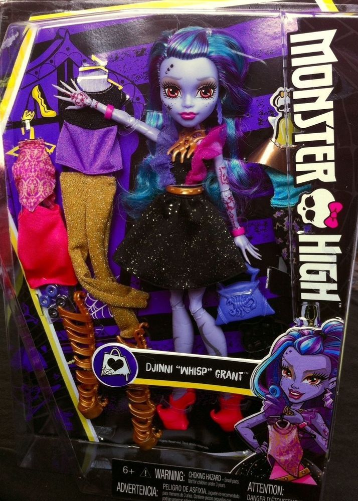 """2016 Monster High Djinni """"WHISP"""" Grant Doll 12 in. I Love Fashion **IN HAND!** #Mattel #DollswithClothingAccessories"""