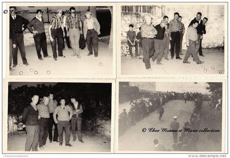 COURS LA VILLE - TOURNOI DE #PETANQUE - #RHONE - LOT DE 5 PHOTOS
