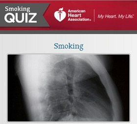 Quitters win.  Tips for smoking cessation from the American Heart Association.
