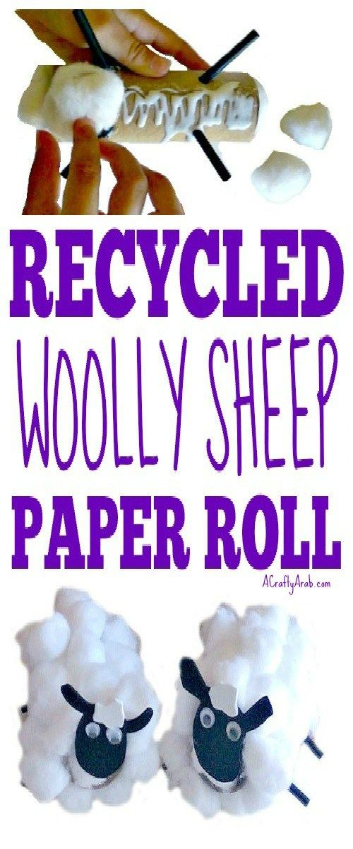 A Crafty Arab Recycled Woolly Sheep Paper Roll {Tutorial}. This cute Ramadan craft uses cotton balls and recycled paper rolls to create adorable woolly sheep.  We have made plenty of sheep projects over the years on A Crafty Arab blog.I even compiled them in a list last April so they would be easy to find on this post called 99 Sheep Creative Projects. …
