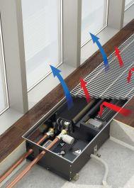 конвектор внутрипольный  VARMANN Qtherm HK4 Артикул: QHK4 310.130.900 RR U EV1 Внутрипольный конвектор VARMANN Qtherm HK4, 4-х трубная система, принудительная конвекция, большая мощность, нагрев и охлаждение, решетка анодированная (серебристая). Гарантия производителя.