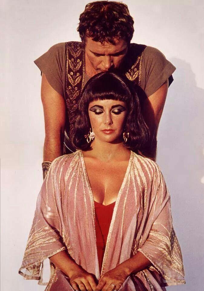 "Elizabeth Taylor and Richard Burton for ""Cleopatra"" (1963)"
