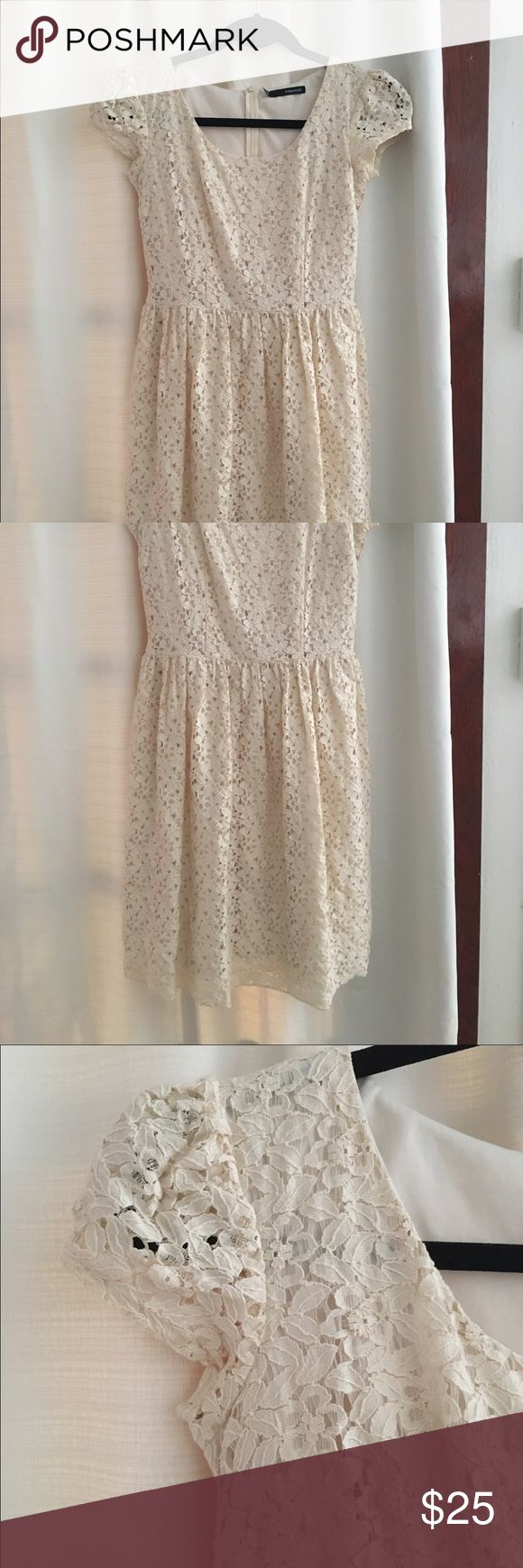 White lace dress Worn to an occasion, but was too long (I'm petite) Dresses Midi