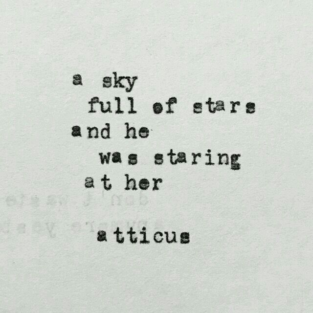 He took in her gaze, and to him, she was as shining like the sky full of stars.