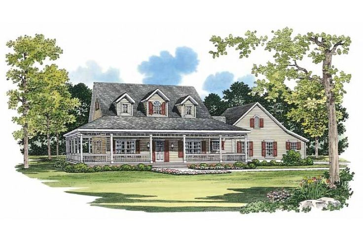 Home Plan HOMEPW14817 - 2090 Square Foot, 3 Bedroom 2 Bathroom + Farmhouse Home with 2 Garage Bays | Homeplans.com
