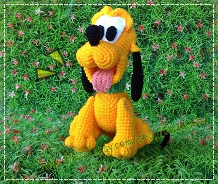 Yellow Dog 8inches PDF amigurumi crochet pattern by Chonticha, $7.00