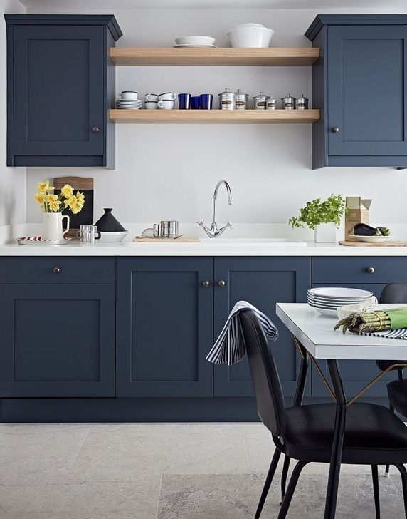 Inspiring Blue And White Kitchen Ideas To Love 11 Contemporary Kitchen Cabinets Contemporary Kitchen Design Contemporary Kitchen