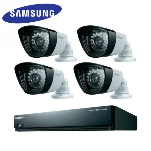 4-Channel All-in-One CCTV Kit with Outdoor Night Vision Cameras