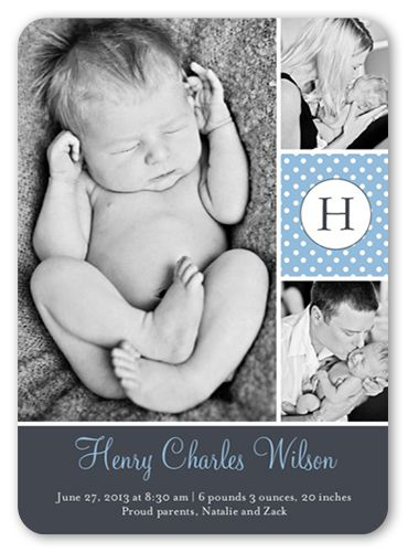 Sweet Dotted Boy 5x7 Stationery Card by Blonde Designs | Shutterfly