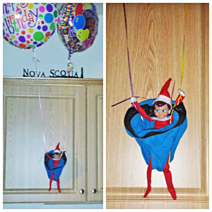 20 best elf of a shelf images on pinterest christmas elf for Elf on the shelf balloon ride