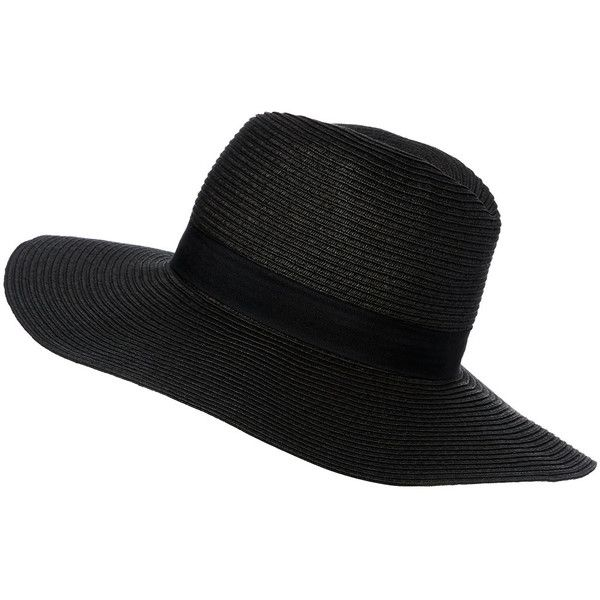 Oversized Straw Fedora (€6,44) ❤ liked on Polyvore featuring accessories, hats, beach hat, straw hat, straw fedora hat, oversized straw hat and oversized fedora hat
