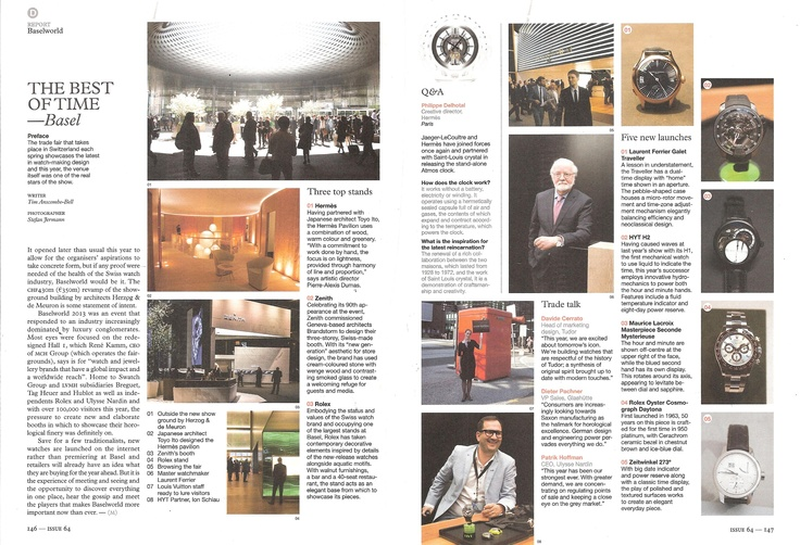 Baselworld roundup in Monocle Magazine talks about the new Maurice Lacroix Seconde Mysterieuse #basel #taskpr